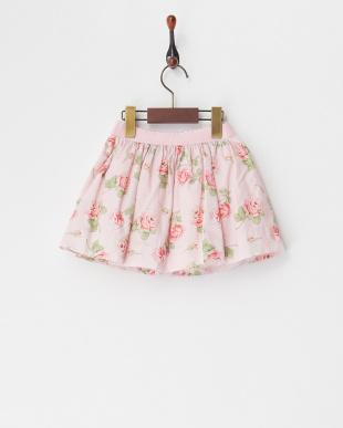 ピンク 花柄プリントスカート(24M~)を見る