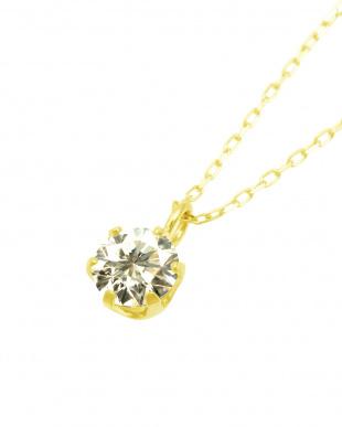 K18YG 天然ダイヤモンド 0.3ct SIクラス あずきチェーン ネックレスを見る