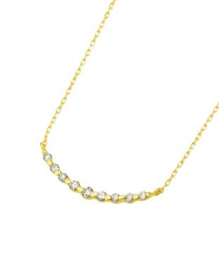 K18YG 天然ダイヤモンド 0.1ct ラインネックレスを見る