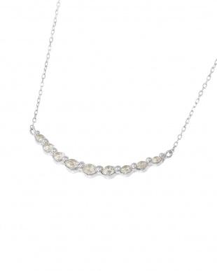 K18WG 天然ダイヤモンド 計0.3ct ライン ネックレスを見る