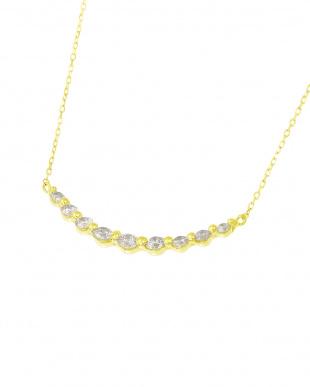 K18YG 天然ダイヤモンド 計0.3ct ライン ネックレスを見る