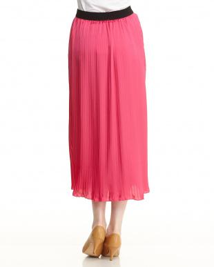 ピンク アコーディオンプリーツスカートを見る