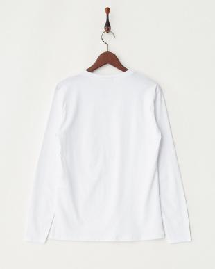 ホワイト フロントエンボス長袖Tシャツを見る