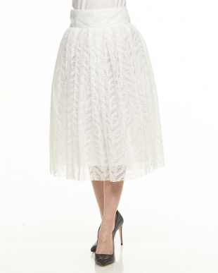 ホワイト white レースボリュームスカートを見る