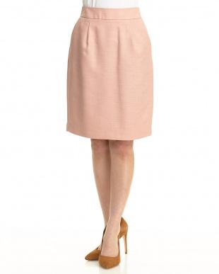 pink バックジップタイトスカート見る