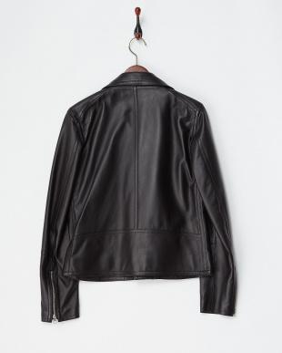 ブラック 羊革ライダースジャケット|MEN見る