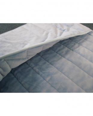 ブルー [シングル]発熱素材サンバーナー使用 暖か敷きパッド足入れポケット付を見る