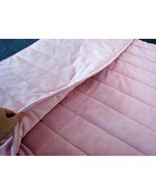 ピンク [ダブル]発熱素材サンバーナー使用 暖か敷きパッド足入れポケット付を見る