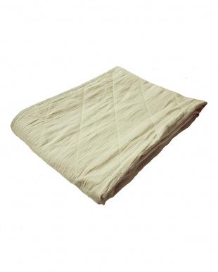 ベージュ [シングル]麻100%敷きパッド 近江ちぢみ麻使用を見る