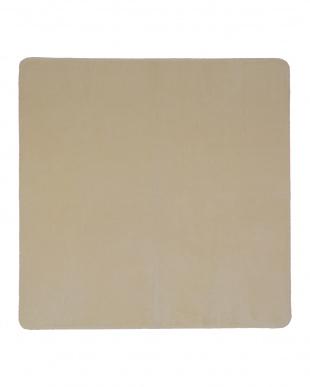 アイボリー 洗えるミンクタッチラグ 185×185cm見る