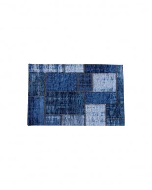 ブルー パグルン 60×90   ベルギー製マット見る