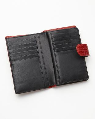 レッド 2つ折り クロコダイル財布を見る