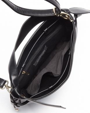ブラック リボンハンドル 2WAYバッグを見る