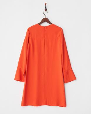 056 オレンジ スリットスリーブドレス見る