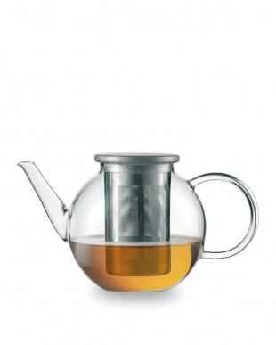 TEA (GOOD MOOD) ステンレスフィルター付きティーポット ラウンドL*見る