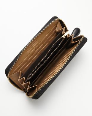 ブラック クロコ型押しラウンド財布見る