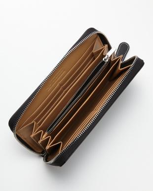 ブラック 床革ラウンド財布見る