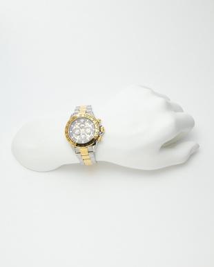 ゴールド/ブラック 機械式腕時計 003|MEN見る