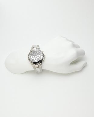 シルバー ダイヤ付き機械式腕時計 014|MEN見る