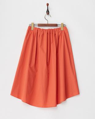 ピンク オレンジ系 テールヘムタックギャザースカートを見る
