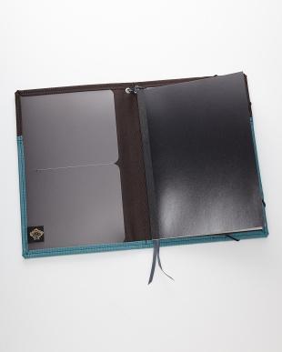 ブルーグリーン ノートカバーA5を見る