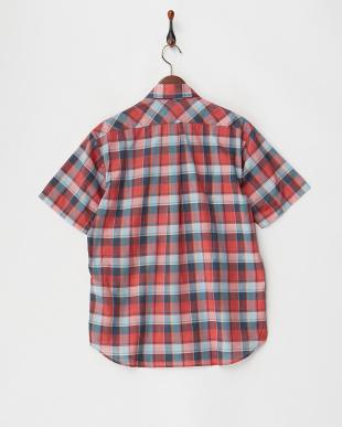 レッド [吸汗速乾]ツイストチェック シャツ S/S|MENを見る