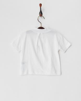ホワイト 26/-テンジクハイネック5ブソデTシャツを見る