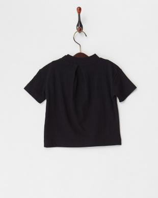 ブラック 26/-テンジクハイネック5ブソデTシャツを見る
