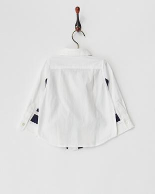 ホワイト キリカエラインシャツを見る