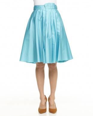 ライトブルー ポイントプリーツスカートを見る