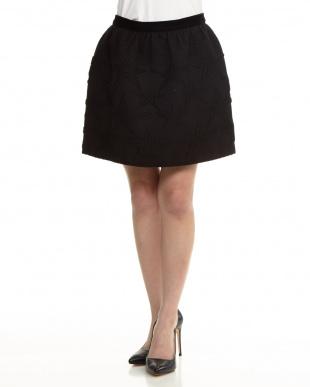 BLACK ウール混スタージャガードスカートを見る
