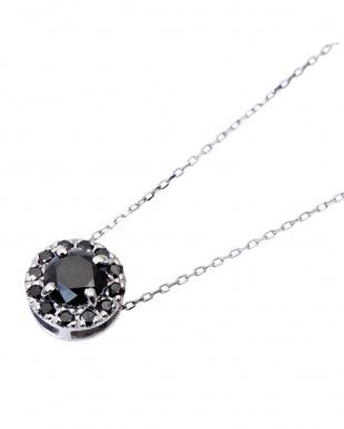 Pt ブラックダイヤモンド 計0.5ct サークルネックレスを見る