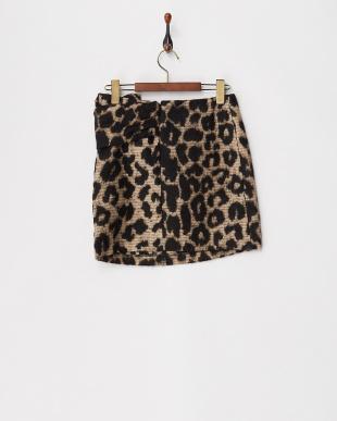 101 ブラウン系 レオパード柄スカート|KIDSを見る