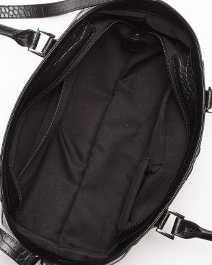 ブラック クロコダイル&牛革コンビネーション2WAYハンドバッグを見る