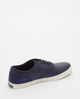 MARINE BLUE LEATHER NANTUCKET DECK SNKR見る