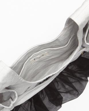 アイスグレー チュールフリル付きバッグを見る