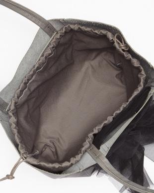 ブルーグレー レースリボン付き レザートートバッグを見る