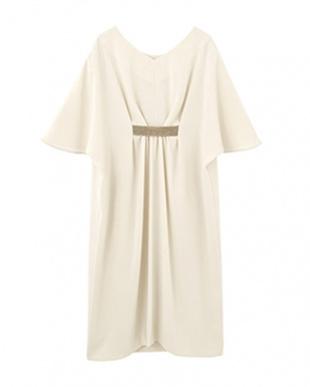 アイボリーベージュ Made in JAPAN フロントテープドレープドレスを見る