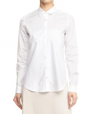 003 ホワイト メモリッチブロードストレッチシャツ見る