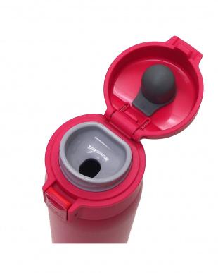 ピンク ふわり軽量ステンレスワンプッシュボトル 480mL見る
