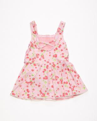 ピンク いちごプリントワンピース水着を見る