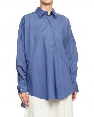 61 ブルー ブロードギャザービッグシャツを見る
