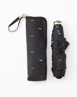 RIBBON DOT_BK RIBBON DOT SF3段折りたたみ傘 雨晴兼用見る