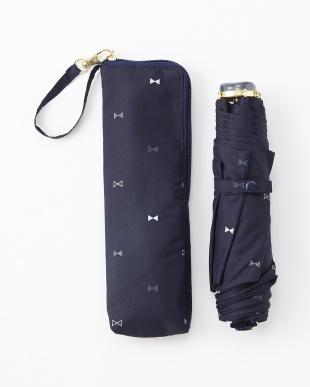 RIBBON DOT_NV RIBBON DOT SF3段折りたたみ傘 雨晴兼用見る