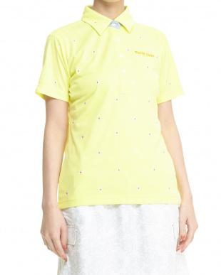 YL レディス 吸汗速乾&UVカット 小花刺繍ハンソデシャツを見る