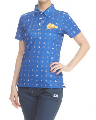 WT レディス 吸汗速乾&UVカット ハンソデシャツ マリンモチーフ柄を見る