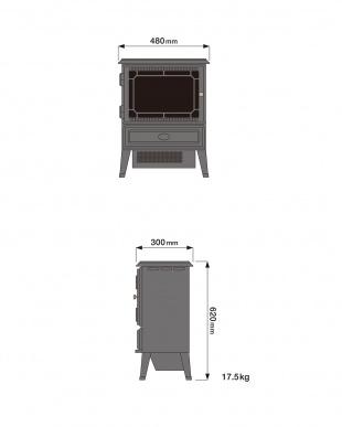白 ホワイト 電気暖炉|Gosford見る