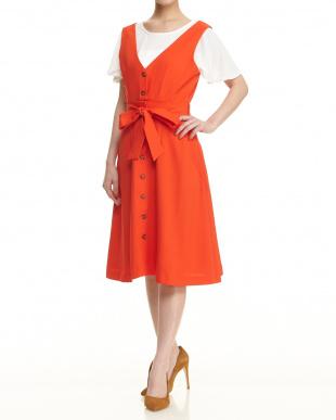 オレンジ マルチウェイジャンパースカートを見る