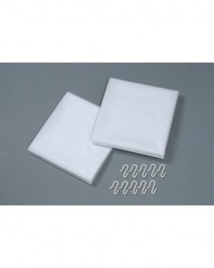 なし ホワイト 断冷カーテン 幅広 2枚組×2セット | Seie見る