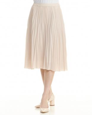 ベージュ プリーツスカートを見る